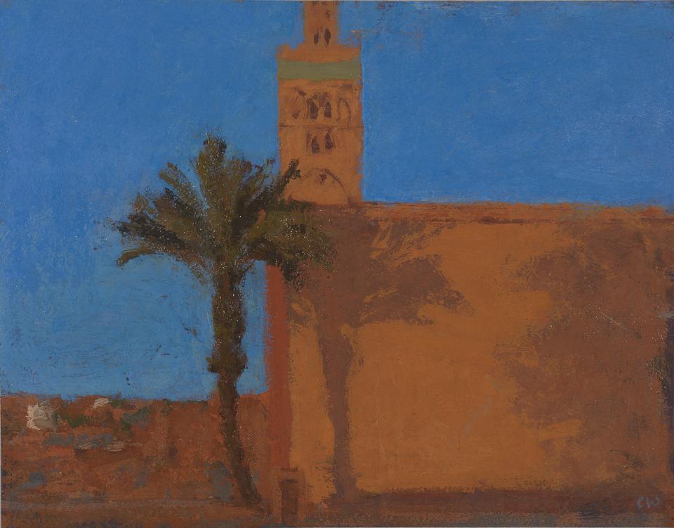 Koutoubia, Marrakech, Casein Tempera on Card, 28 x 36cm