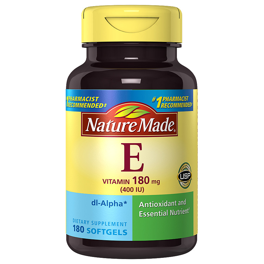 Vitamin E - Vitamin E is found in many skincare products as it aids in moisturizing and has possible anti-aging properties