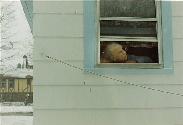 """Cornell in Window"" 1972 by Harry Roseman"