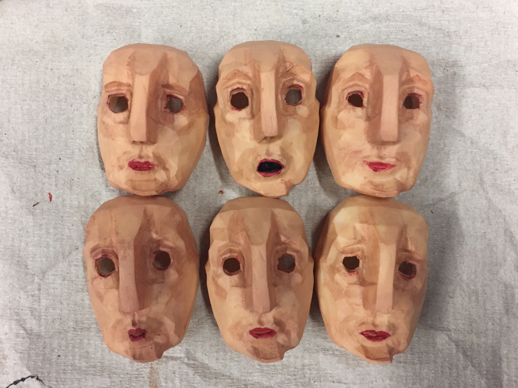 "3D Printed Replacement faces for ""Oh, My Domovoi"""