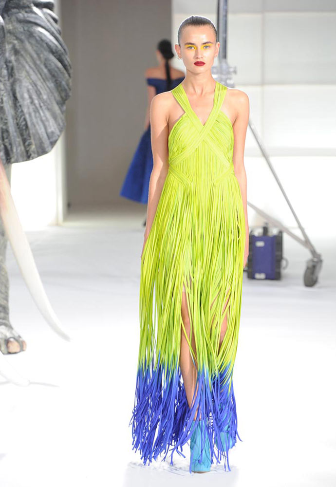 SILK ROULEAU DIPPED DYED GOWN