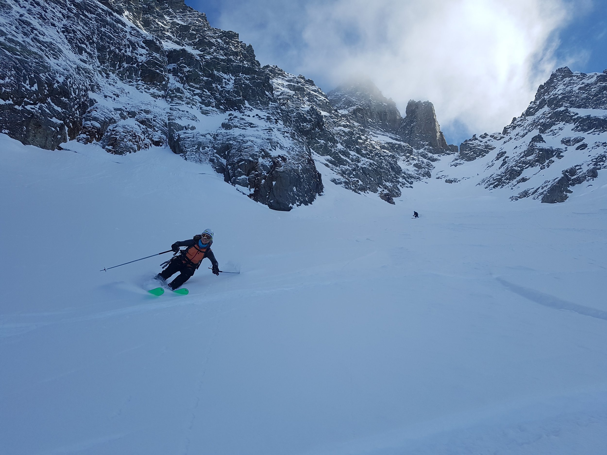 Fresh powder in the Aiguille Rouge