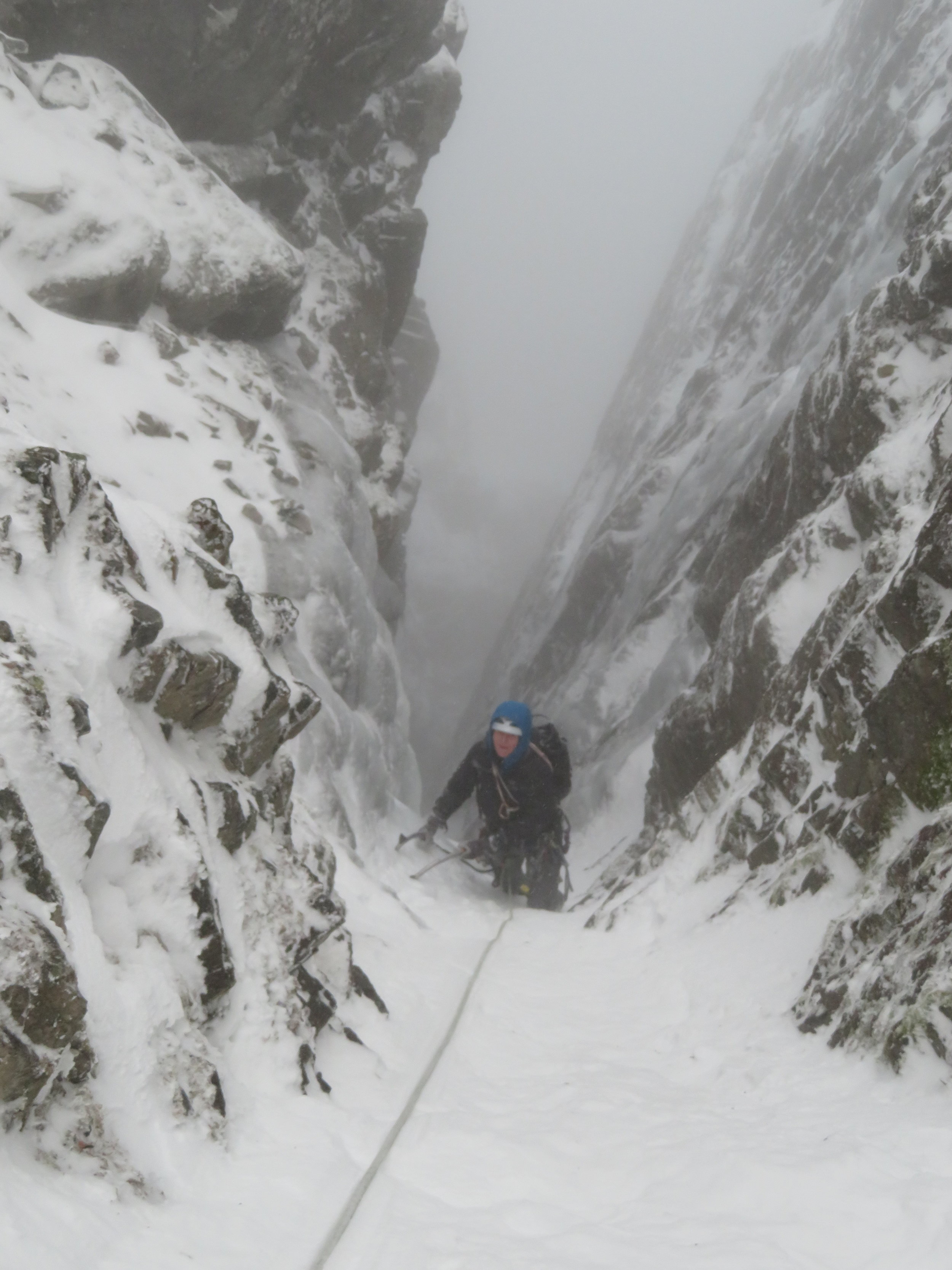 Ben Nevis was feeling very wintery in Number 2 Gully with Alan
