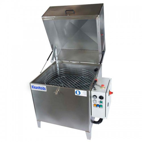 "KleanHolds Model 3019-1 - Specifications:· Heater / Temperature – Room Temp - 170° F· Max Load Weight - 330lbs· Completely Assembled Dimensions:w/ Lid Closed – 50""W X 43""D X 47""Hw/ Lid Open – 50""W X 47""D X 70""H35.75"" Minimum Transport Width· One Pump, One Spray Manifold - 1 HP / 35 psi @ 24 gpm· One Basket - 30"