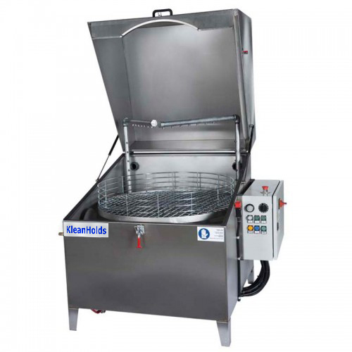 "KleanHolds Model 3519-2 - Specifications:· Heater / Temperature – Room Temp - 170° F· Max Load Weight - 440lbs· Completely Assembled Dimensions:w/ Lid Closed – 57""W X 50""D X 51""Hw/ Lid Open – 57""W X 54""D X 76.5""H41"" Minimum Transport Width· Two Pumps, Two Spray Manifolds – 1.5 HP / 37 psi @ 30 gpm each· Two Baskets - 35"