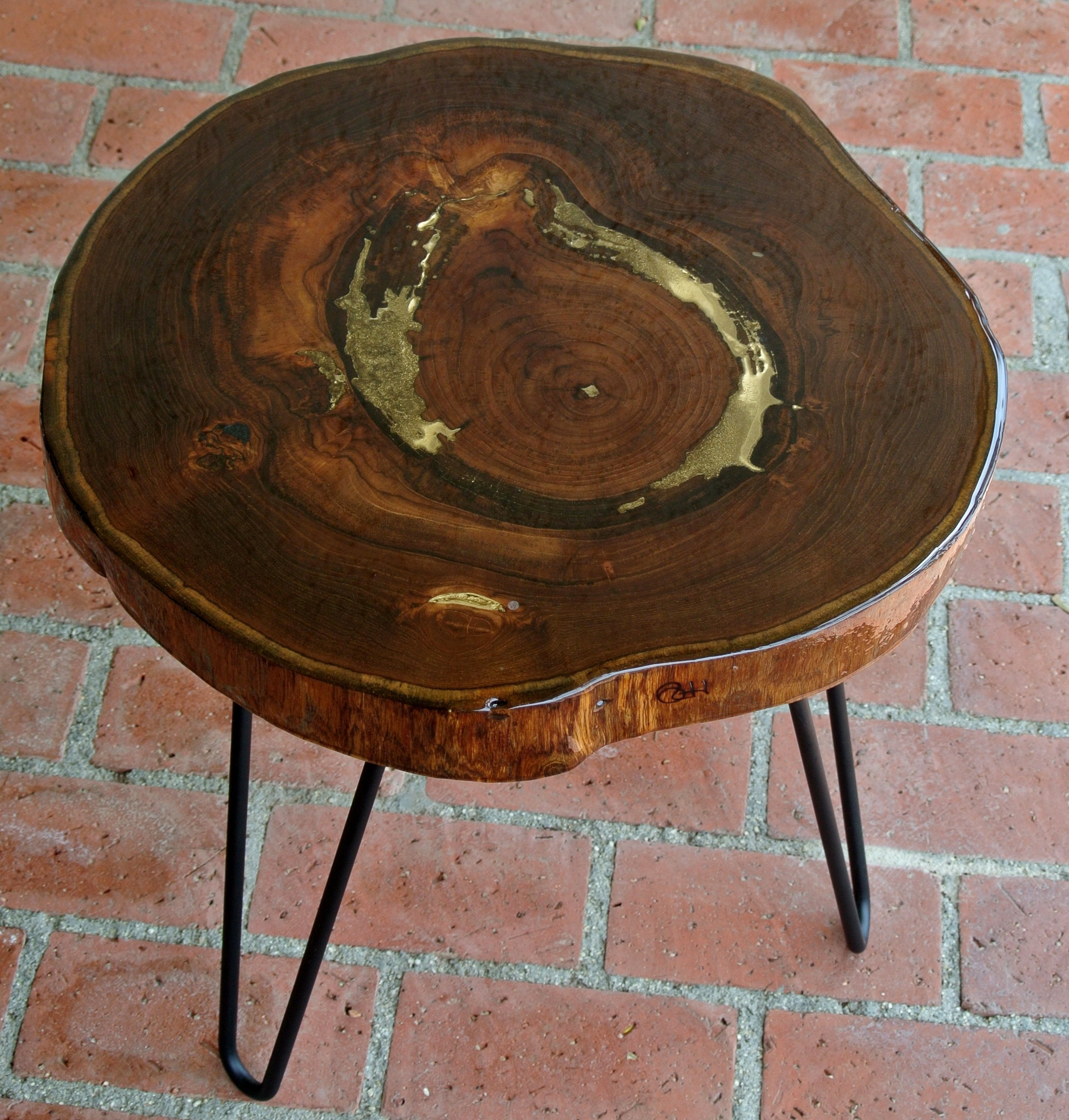 Side Table 2 Wood and Gold.JPG