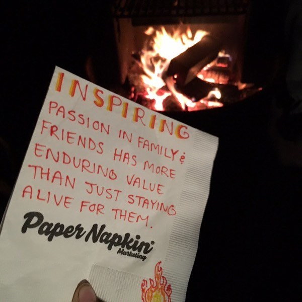 Our friends and family are important. They add a lot to our lives, give yours a hug from us! #papernapkinproject