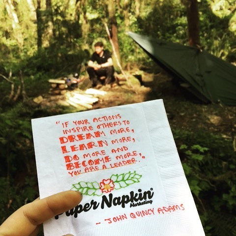 Ah, the wilderness. Nothing calls you to action more than some time out in the woods! #papernapkinproject #camping #nature #summerfun