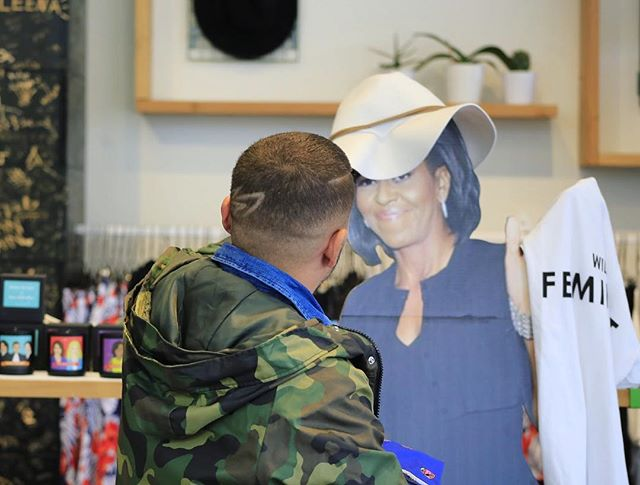 Todd and @michelleobama needed the perfect hat for a weekend at the beach! She wasn't feeling this one but the good news was @wearewildfang had lots of great options! #movvement #socialjustice #michelleobama #wildfang #handfulbra #shewaspicky