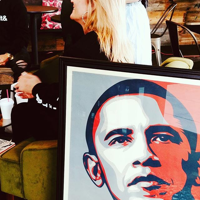 A big thank you to @obeygiant for your beautiful work! We brought together your iconic HOPE poster, powerful stories, and beautiful members of the community! We can't wait to share their stories and release our first #movvements video! #theobamas #elevatedcoffeepdx #inspired #socialjustice #vote #thesedaysobamas