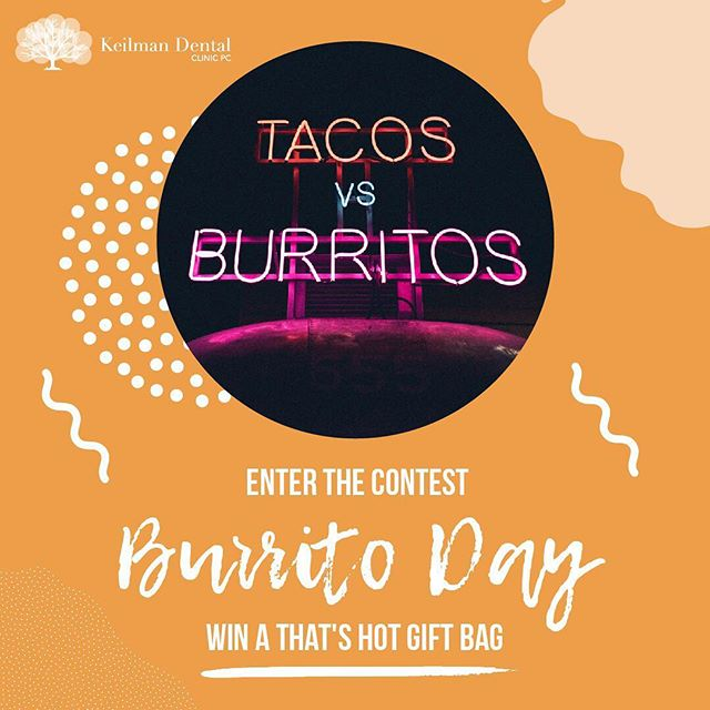 Who reigns supreme the taco or burrito? Nominate your favorite in the comments. One lucky hombre o mujer will win a That's Hot gift bag, packed with hot sauce goodies. We'll take one of each with a side of chips and guacamole, por favor.