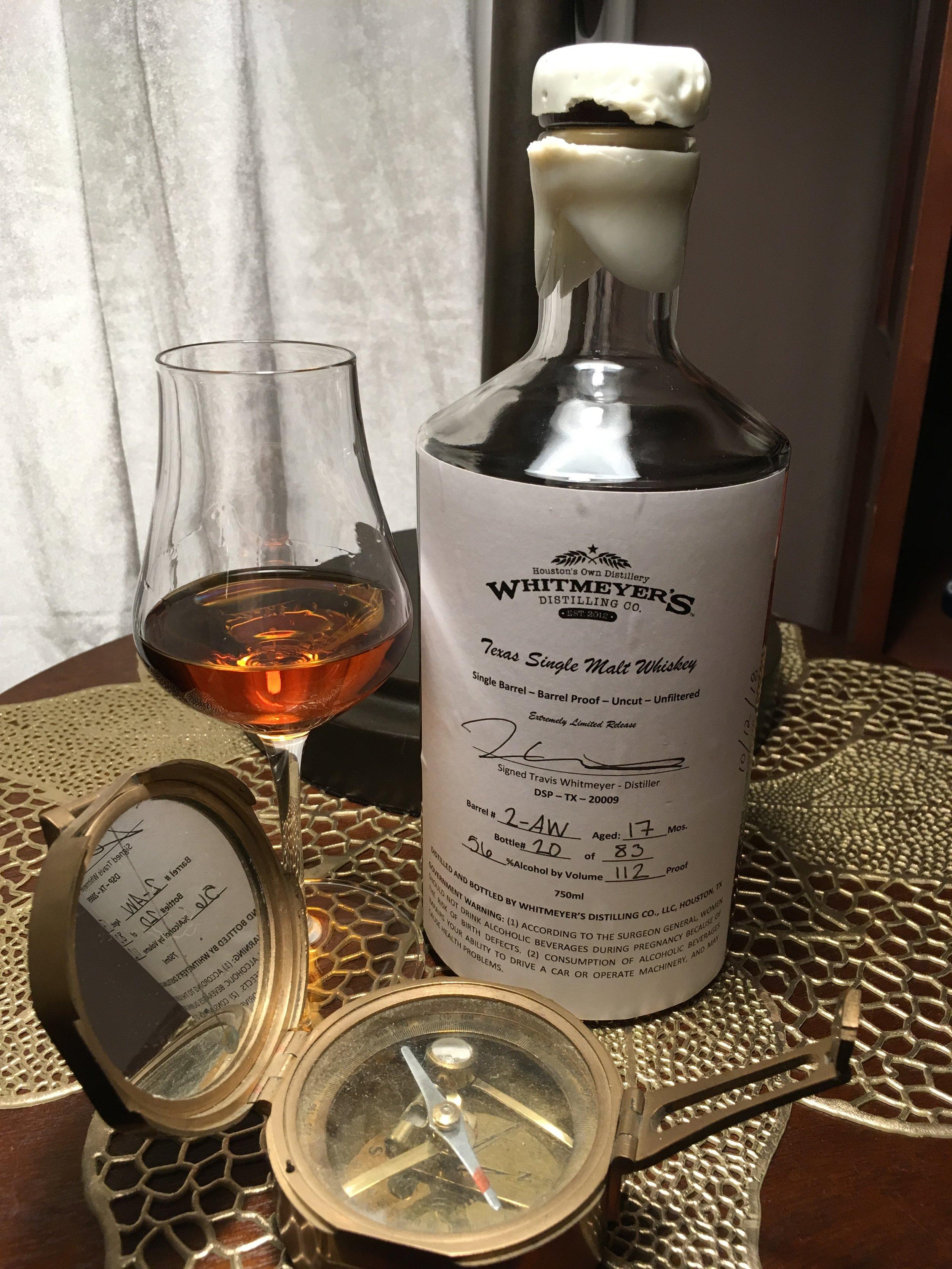112 proof, grain-to-glass Texas single malt whiskey!