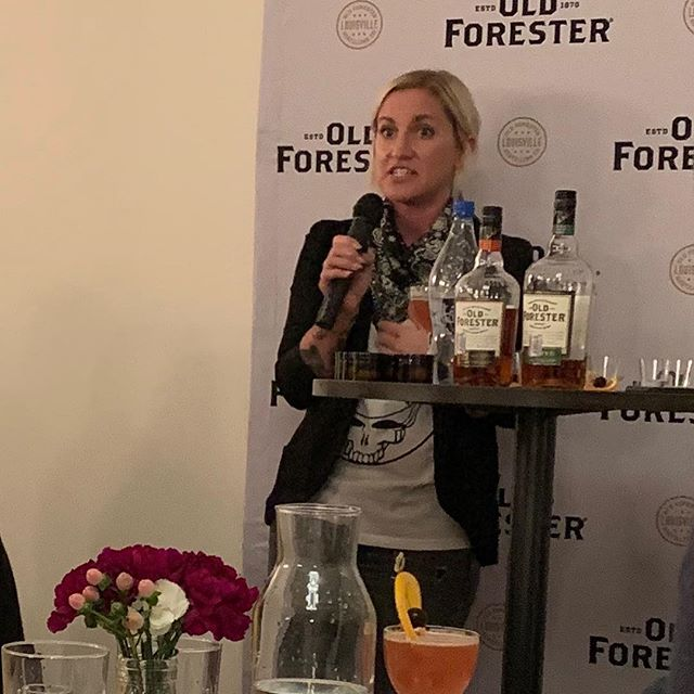 Great event from @oldforester with Master Taster @jackiezykan. We tasted through unaged to their standard bourbon and new rye and had a fun olfactory quiz with random smells found in whiskey.  #houstonbourbonsociety