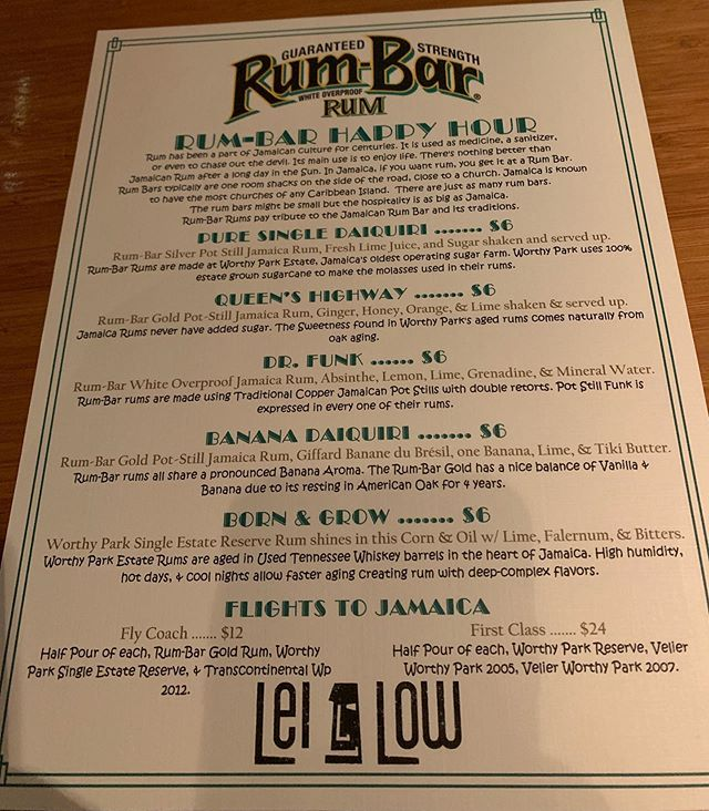 Rum-bar!  Some great deals on worthy park rum to celebrate @zankong's trip to Htown!