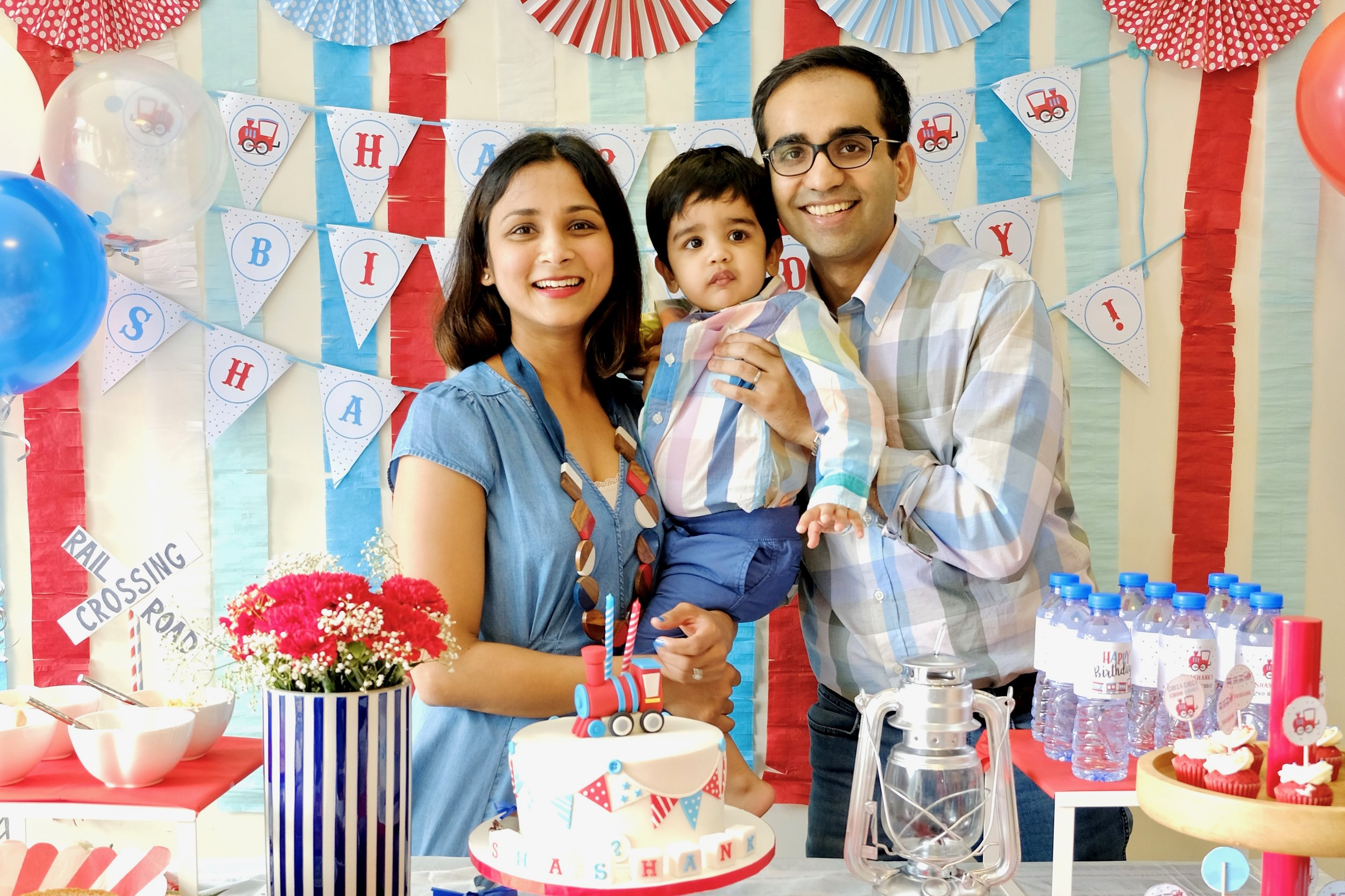 Choo Choo, Shashank is Turning 2! - Shashank's mom styled this wonderful party herself for this adorable little boy. We are in love with the little details and colors of this intimate gathering.
