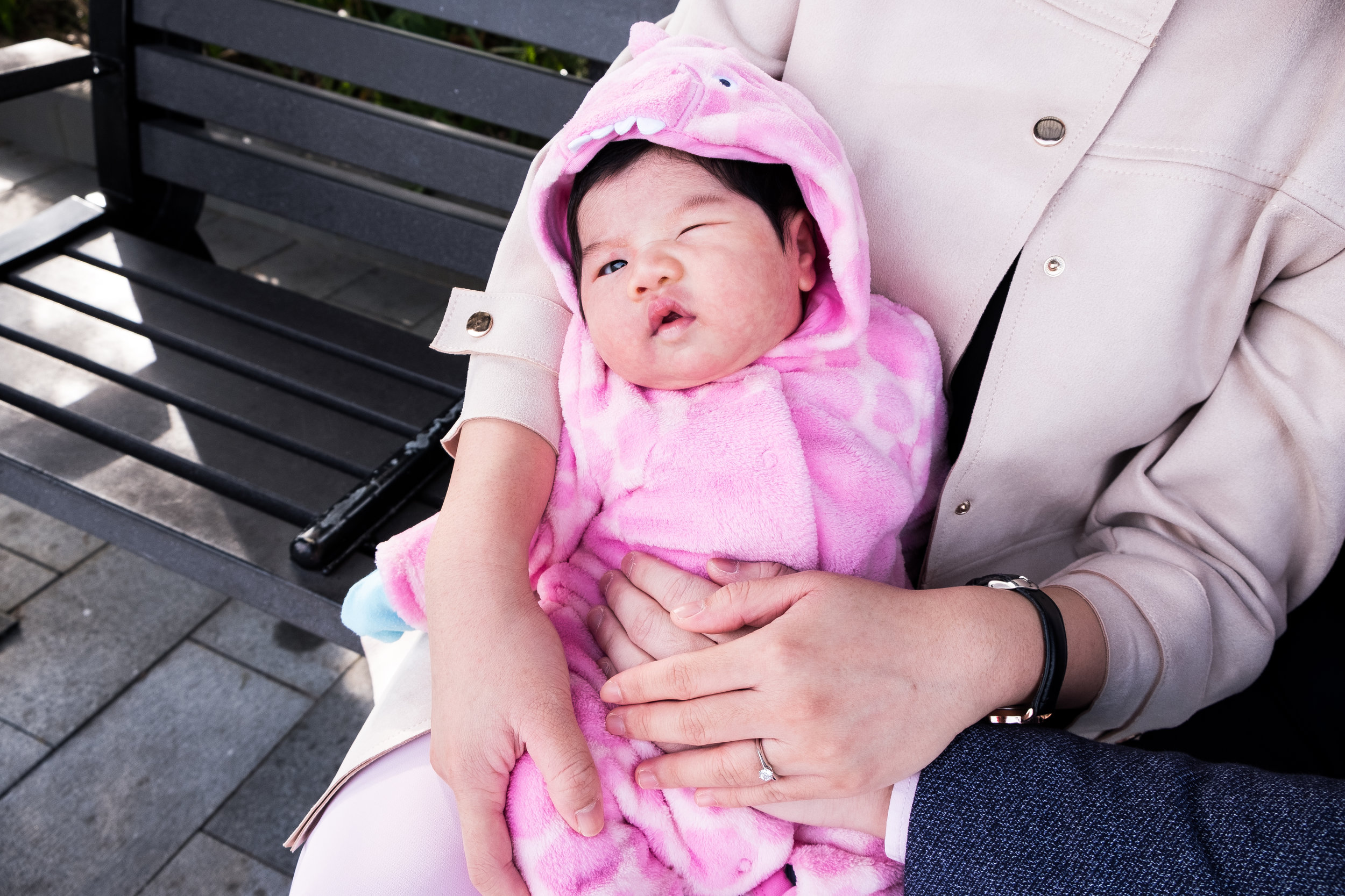 Newborn Shoot with the Tans - Shu Sze wanted to surprise her husband for his 30th birthday with a casual outdoor shoot with their newborn. It was a perfect morning with one of the nicest families around. Xin Hui was such a darling baby and was just a star in front of the camera.