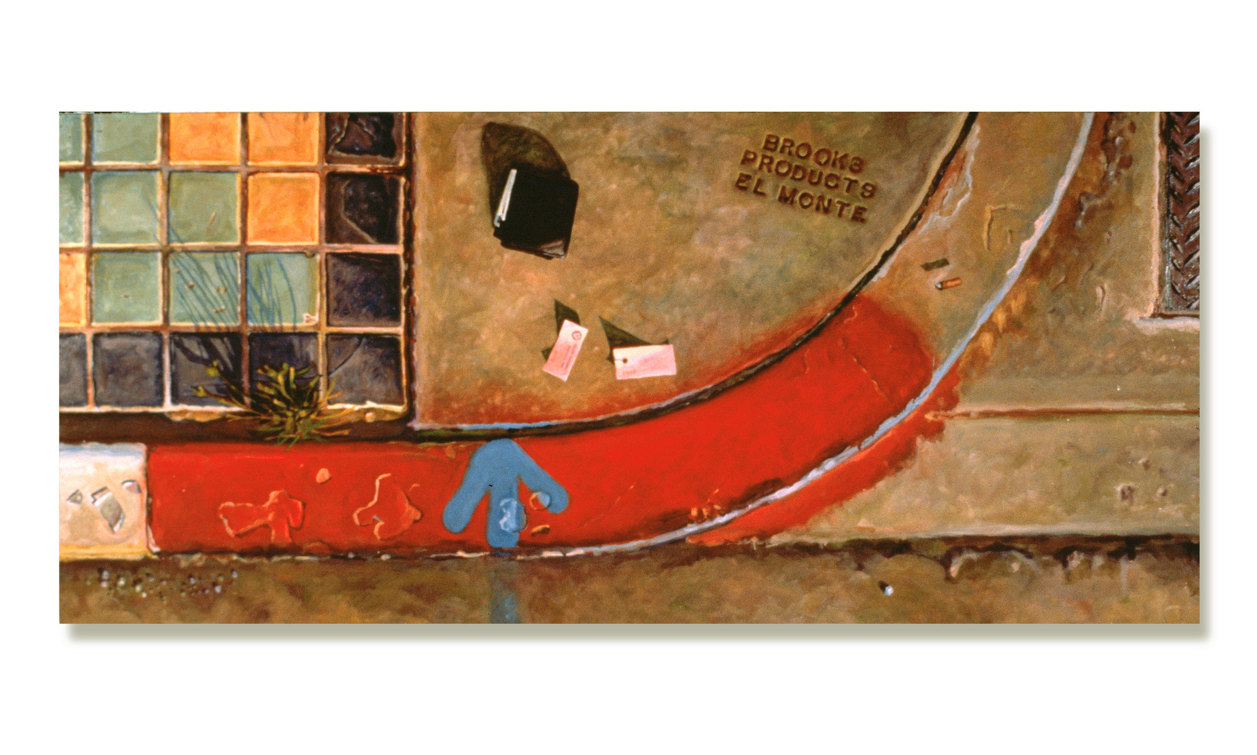 BROOKS PRODUCTS / OIL ON CANVAS / 26 X 64