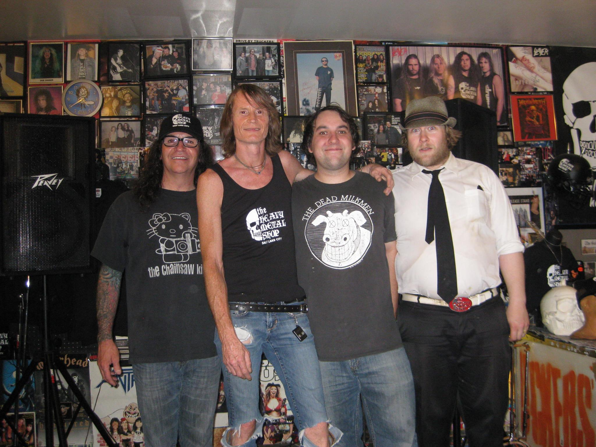 The Rifles meet Kevin Kirk, owner of the Heavy Metal Shop in SLC, during their 2013 tour