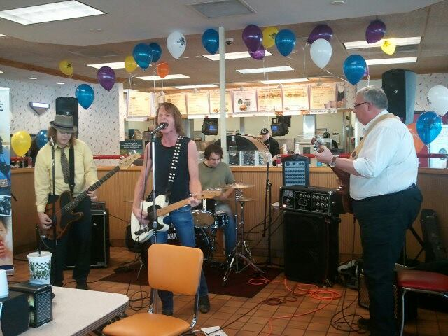 That one time New York Rifles played a show in a Burgerville with the CEO of the company