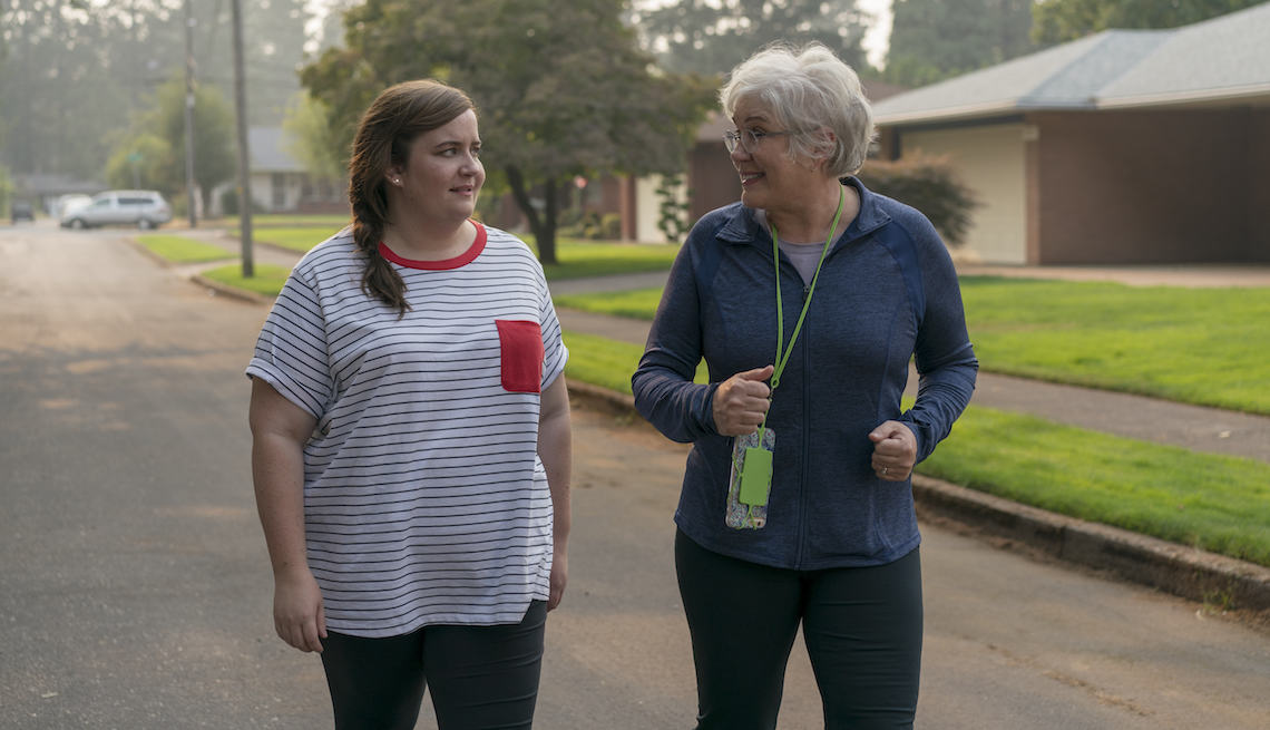 Julia Sweeney and Aidy Bryant as Annie and Vera Easton in  Shrill
