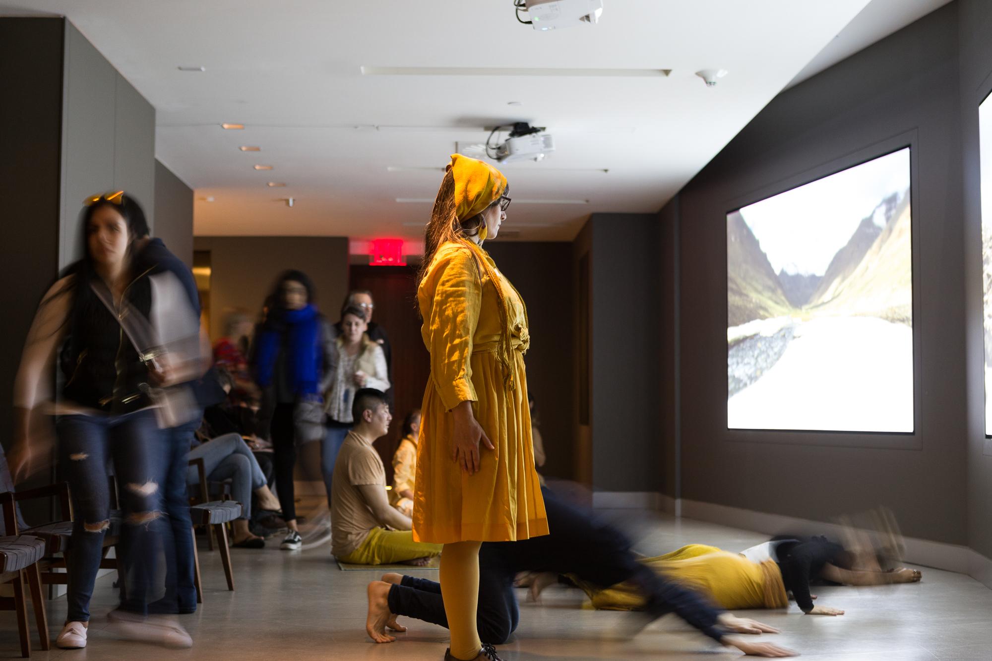 """Prostrate-In,""  FluxBuddha Immersive Happening, The Rubin Museum of Art, 2018."