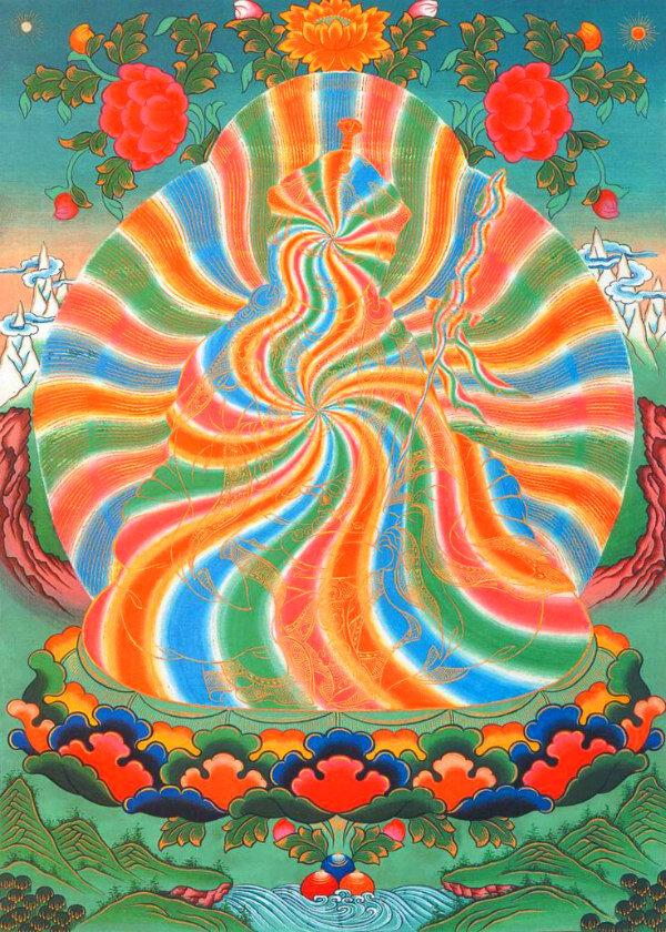 "The rainbow body of ""tantric missionary and wizard Padmasambhava."""