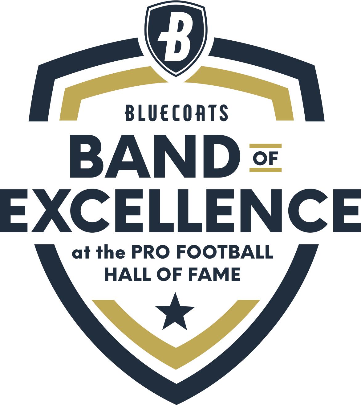 Bluecoats Band of Excellence logo