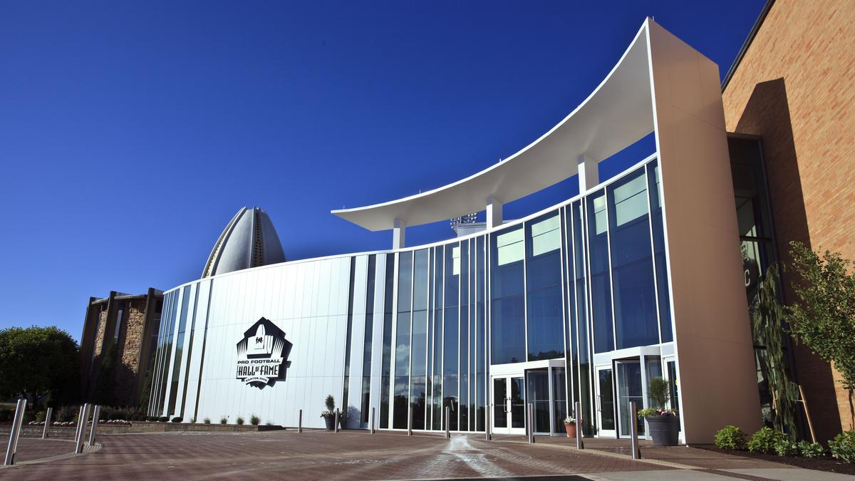 The Pro Football Hall of Fame in Canton, OH