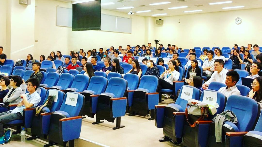 First lecture at the Taichung Campus in Taiwan