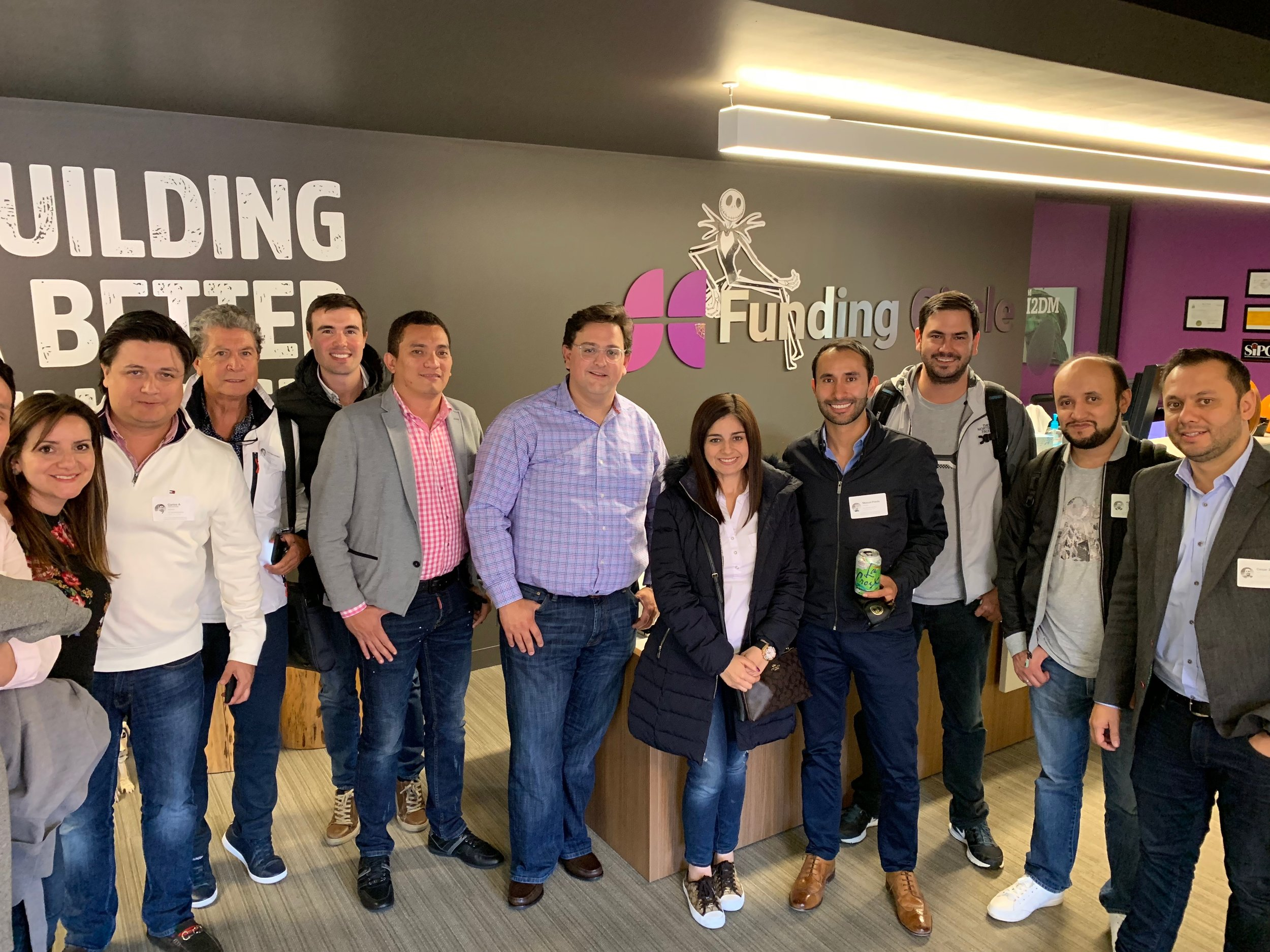 Bernardo Martinez, Managing Director at Funding Circle meets with Colombian founders