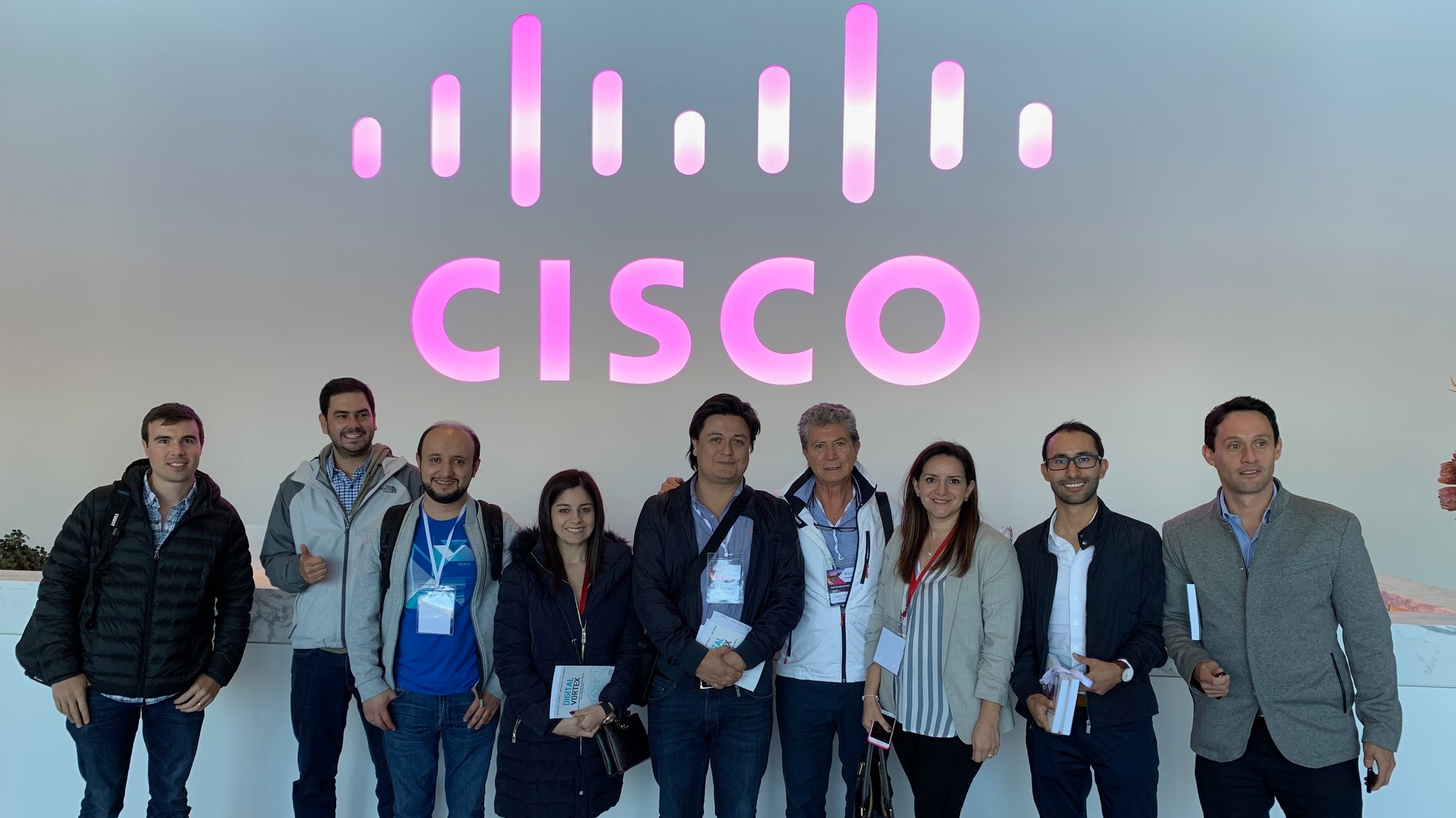 Colombian FinTech delegation visiting the Cisco Headquarters