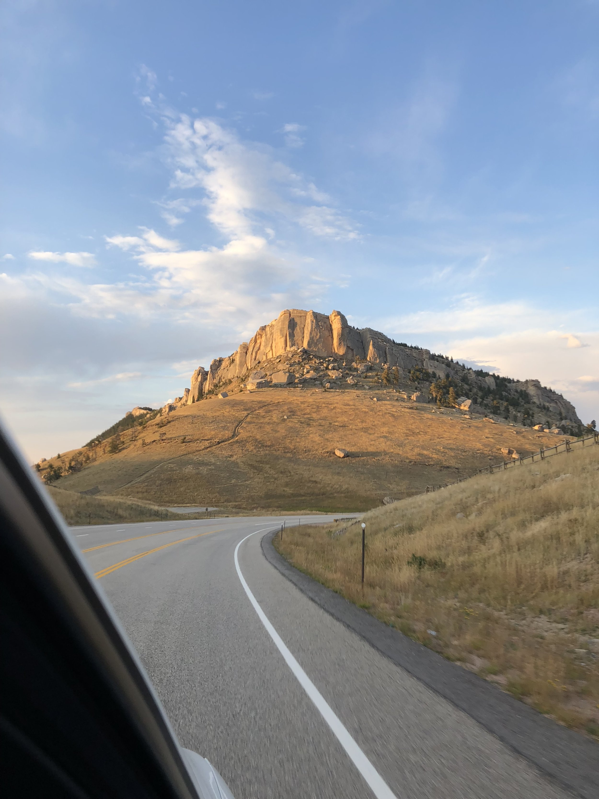 Time flies by with these views. Driving through Wyoming.