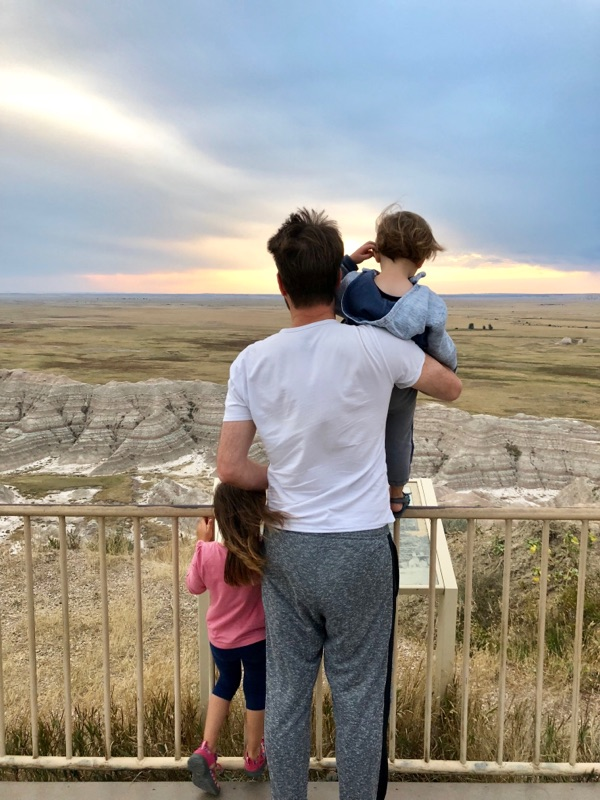 Sunset in Badlands National Park. The colors last for so long.