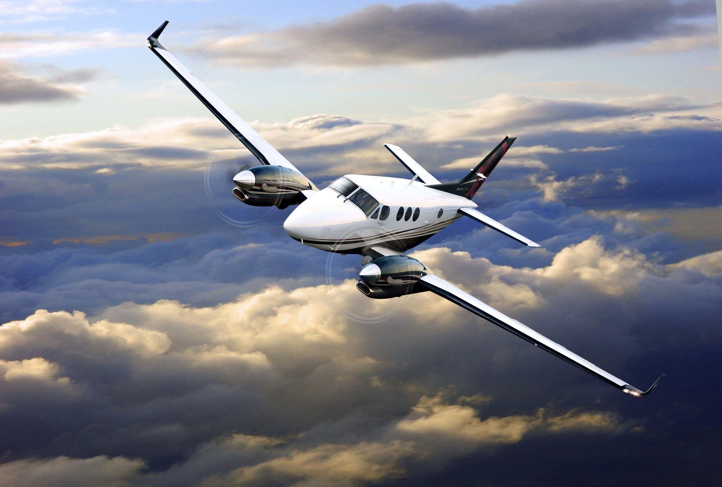 Beechcraft King Air C90GTx Aerial.jpg