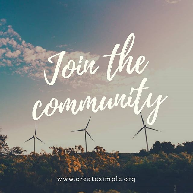 Want to join the Create Simple community?  Sign up for our newsletter and receive our monthly newsletter providing you with upcoming events, sustainability tips and the latest with Create Simple  Sign up in the bio or using this url! https://www.createsimple.org/jointhecommunity . . . #createsimple #minimalist #creatingsimple #sustainable #greenliving #sustainability #jointhecommunity