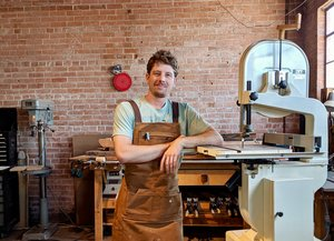 Julian Secomb, designer and owner of Turntable Furniture.