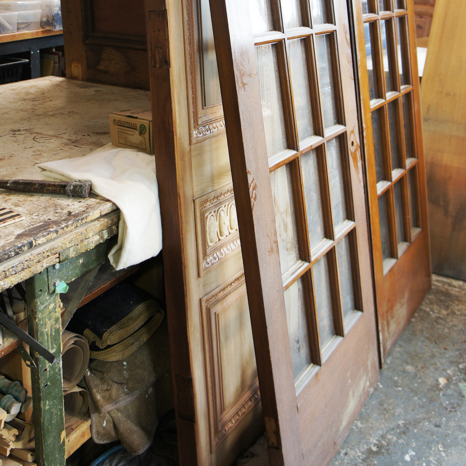 Refinishing exterior doors