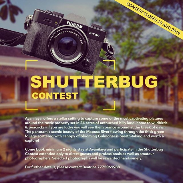 Shutterbug contest at Avanilaya Resort! Love photography? Message us for details! . . #photocontest #shutterbugs #photographerlife #avanilaya #resortphotography #resortphotographer #contestalert #travelindia #travelgoa