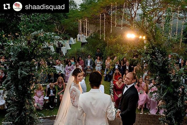 We were thoroughly delighted at our villa grounds transformed for this magical wedding of Hanna & Saif ✨ . .  #Repost @shaadisquad ・・・ Hanna & Saif  January 2019  Goa  #saifgothansy  Venue: @avanilaya  Decor: @knottedupweddings  Photography: @storiesbyjosephradhik  Wedding planned & produced by @shaadisquad . . #boutiquevilla #goatravel #villarental #whitewedding #tropicalwedding #travelindia #luxuryvilla #outdoorwedding #beautifulweddings #beautifulweddingdress #fairylights #ilovegoa #fairytalewedding #ido