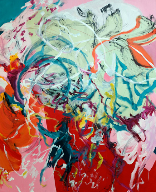 Chasing Rabbits  152x122cm Acrylic on Canvas. Commissioned for a private residence in Lindfield, NSW.