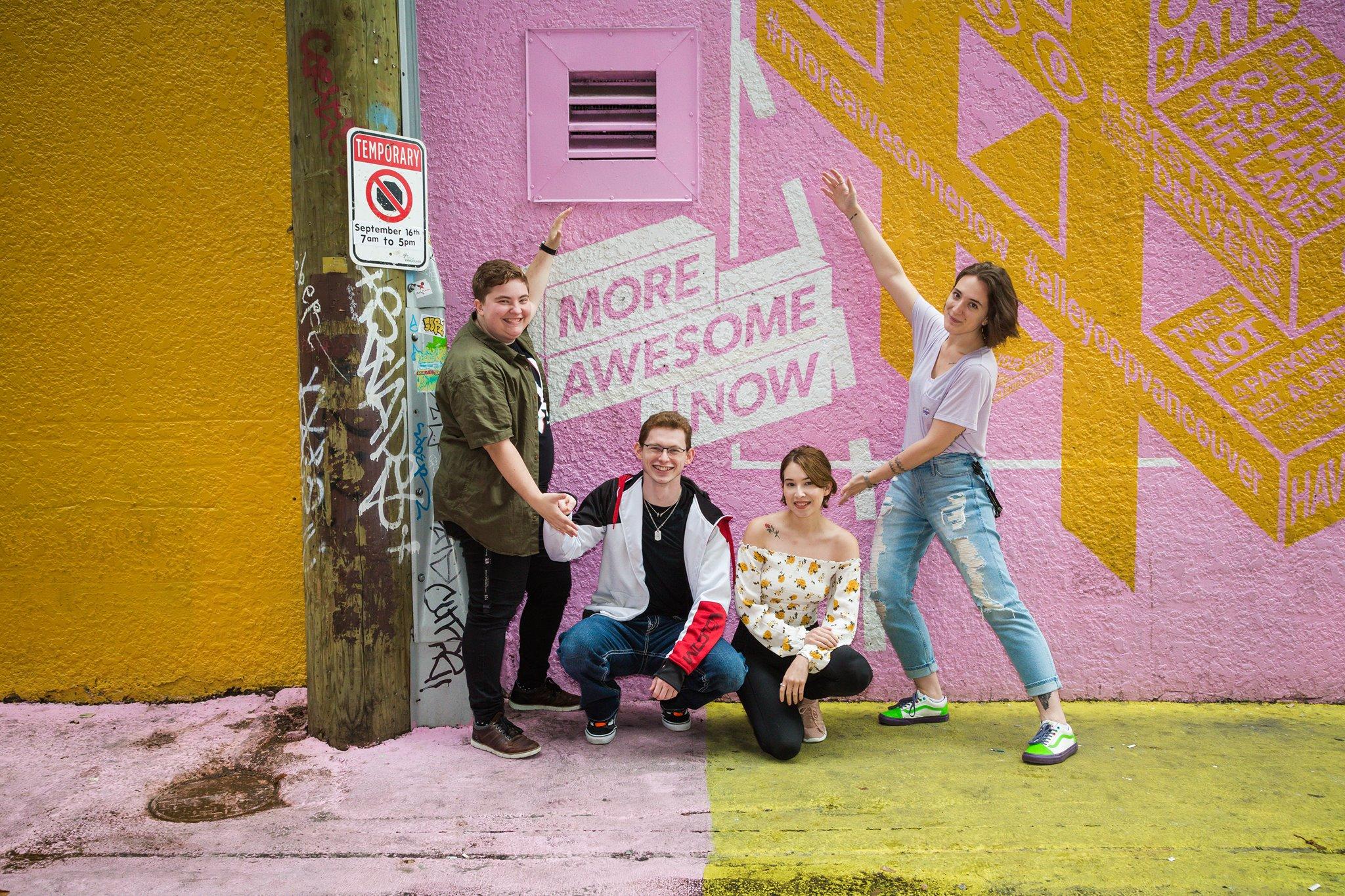 From Left to Right, Alex Sharp (me),  Shawn Hodgson ,  Gabriela Barcelo , and  Bianca Poroliseanu