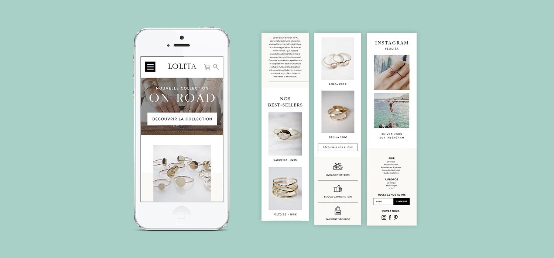 Lolita - Site mobile
