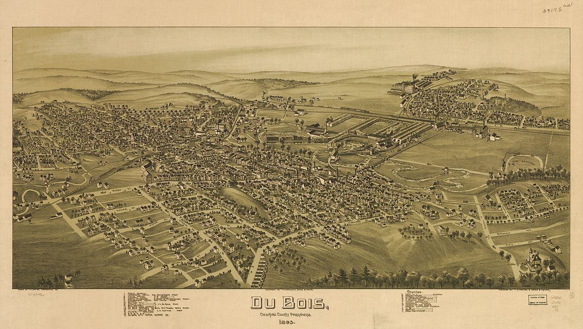DuBois 1895 - Photo Credit: T. M. Fowler & James B. Moyer [1895], Morrisville, PA [Public domain], via Wikimedia Commons
