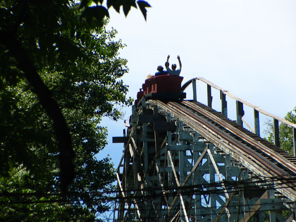 The Blue Streak at Conneaut Lake Park - Photo Credit: Junction118 at en.wikipedia [Public domain], from Wikimedia Commons