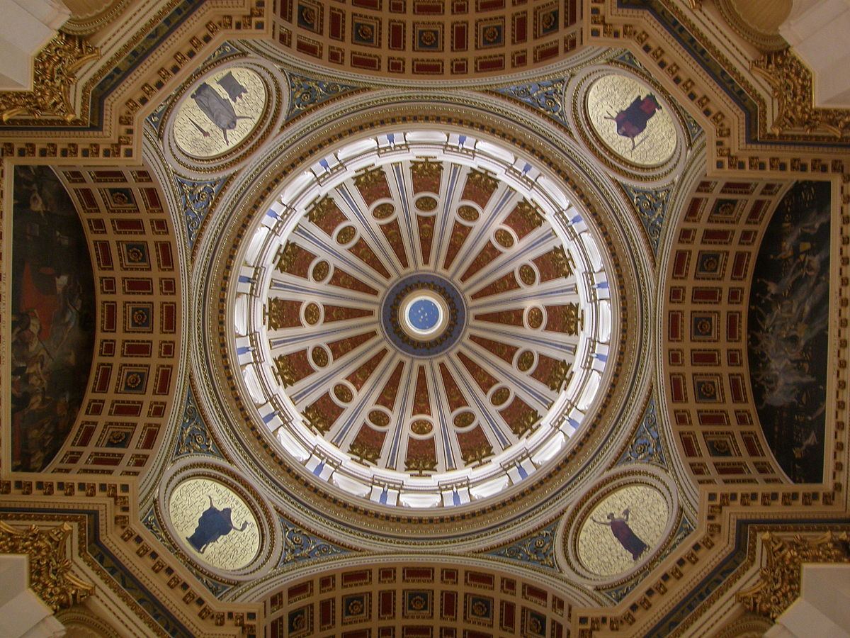 Capitol Building Rotunda - Photo Credit: Edwin Austin Abbey, photo taken by Jim Bowen [Public domain or CC BY 2.0 (https://creativecommons.org/licenses/by/2.0)], via Wikimedia Commons