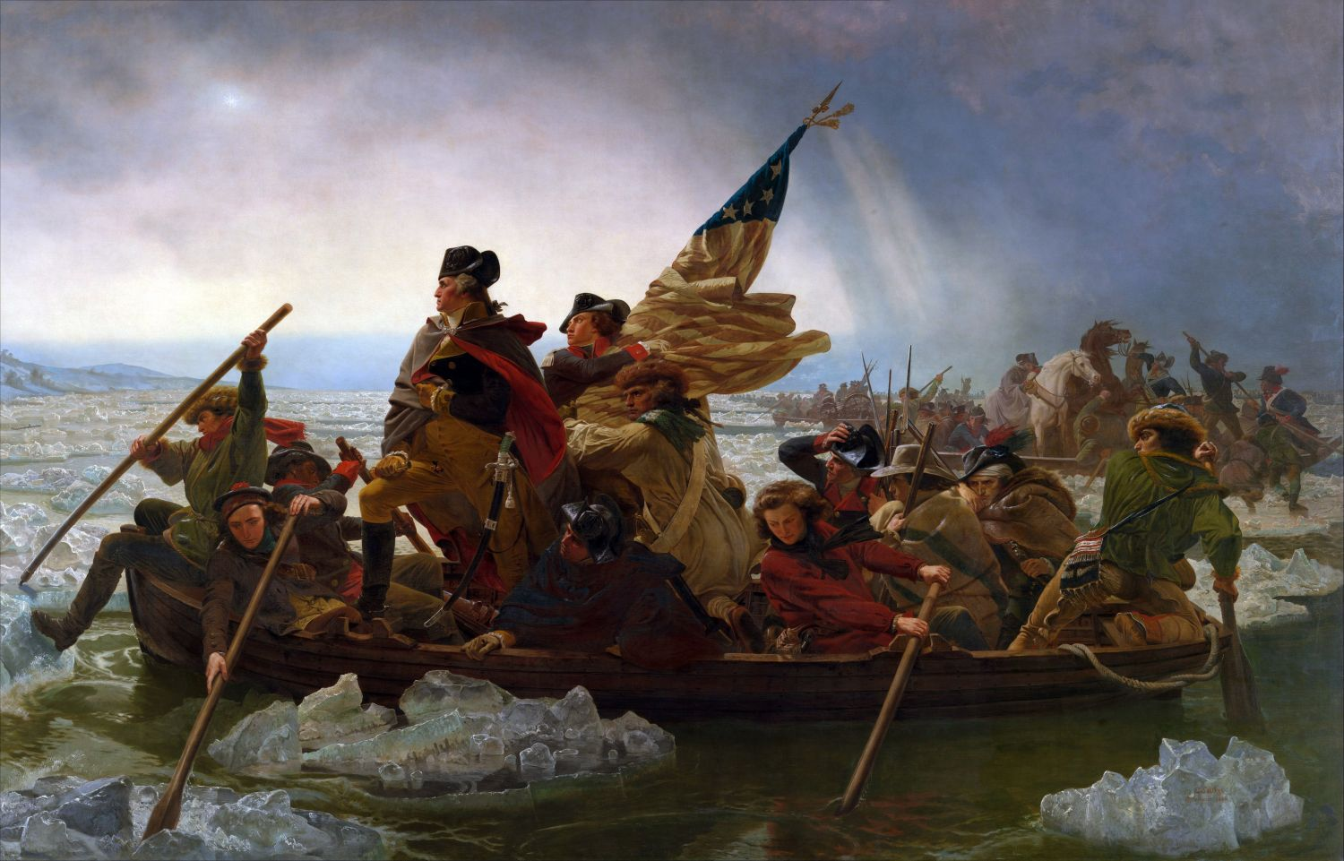 Washington Crossing the Delaware by Emanuel Leutze, MMA-NYC, 1851 - Photo Credit:  Emanuel Leutze [Public domain]