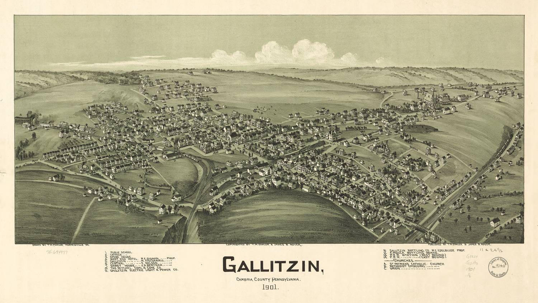 Gallitzin 1901 - Photo Credit: T.M. Fowler [Public domain], via Wikimedia Commons