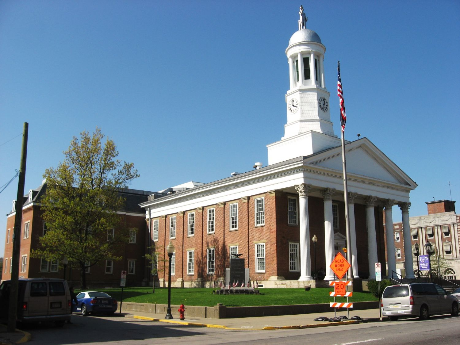 Greene County Courthouse, Waynesburg PA - Photo Credit: Nyttend [Public domain], from Wikimedia Commons