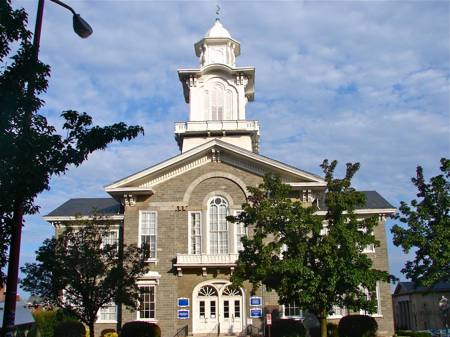 Old Lehigh County Courthouse on the NRHP since September 11, 1981. At 5th and Hamilton Streets, Allentown, Pennsylvania - Photo Credit: Smallbones [CC0], from Wikimedia Commons