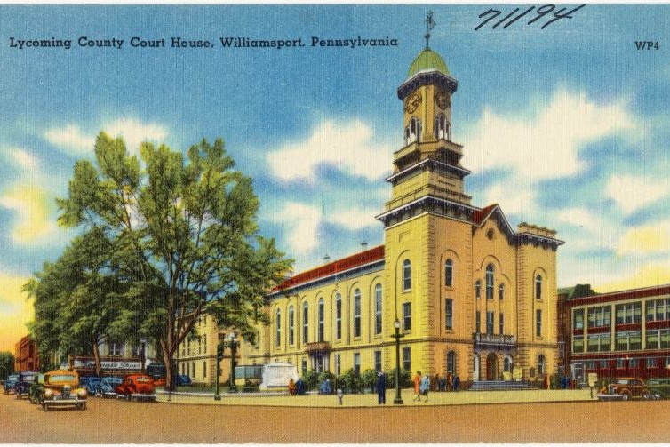 Lycoming County Court House, Williamsport, Pennsylvania - Photo Credit: The Mebane Greeting Card Co. - [Public domain], via Wikimedia Commons
